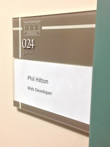 Phil's Office Sign